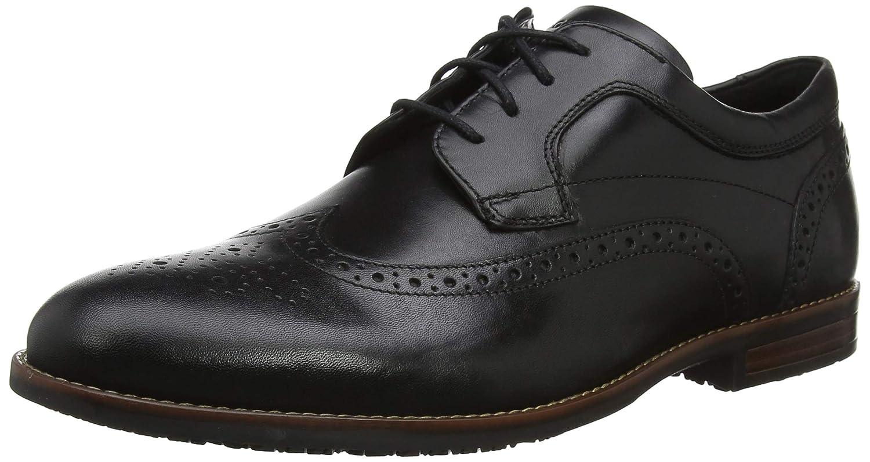 TALLA 44.5 EU. Rockport Dustyn Wingtip Shoe, Zapatos de Cordones Derby para Hombre