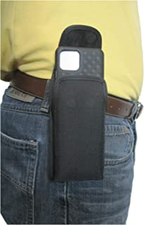 product image for TurtleBack TB Holster Pouch, Rugged and Heavy Duty, with Strong Belt Clip, Fits Google Pixel 4XL (2019) with Slim-Fit Case On Device (Blk Nylon-Vertical Metal Clip)