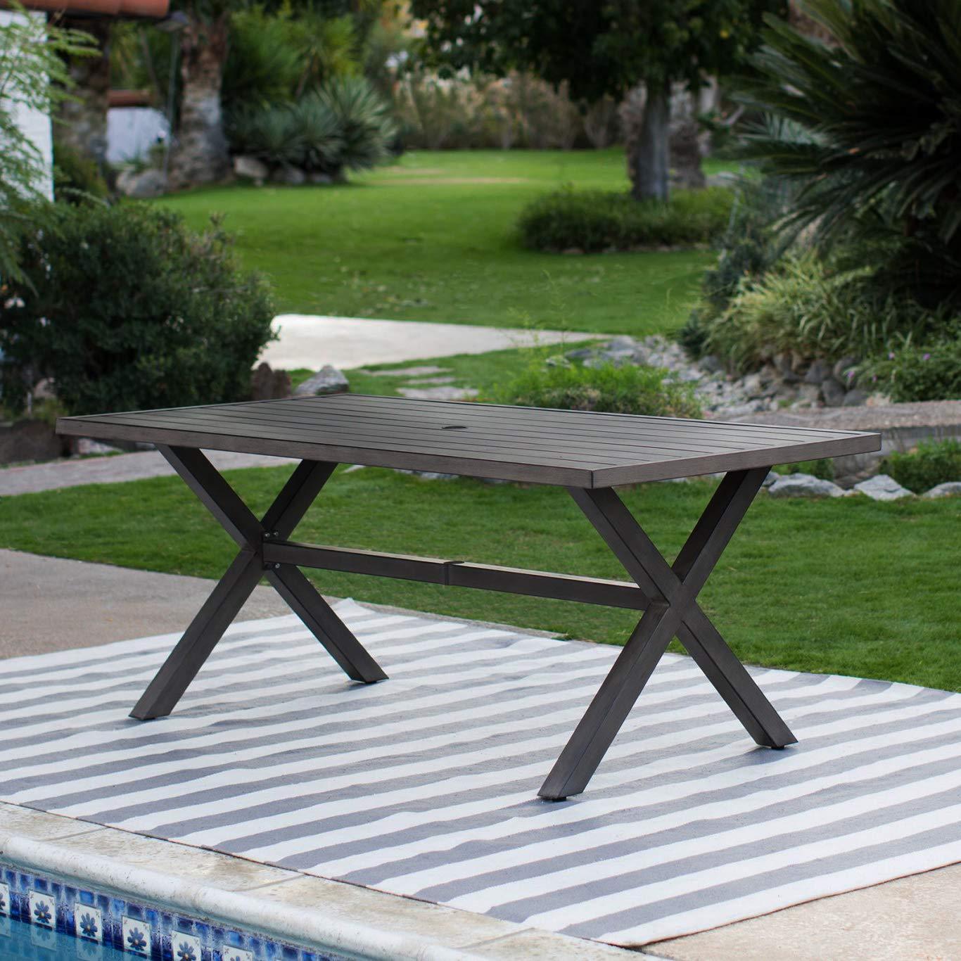 Amazon.com: Juego de comedor para patio. Muebles modernos de ...