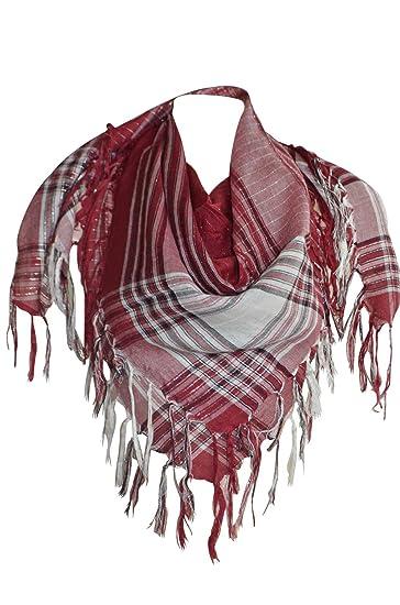 KARL LOVEN Foulard - FEMME - Palestinien Argenté - Keffieh - Viscose -  Chèche - Pashmina - Cheich - cheche AU CHOIX NEUF (Marron)  Amazon.fr   Vêtements et ... 01501130d7c