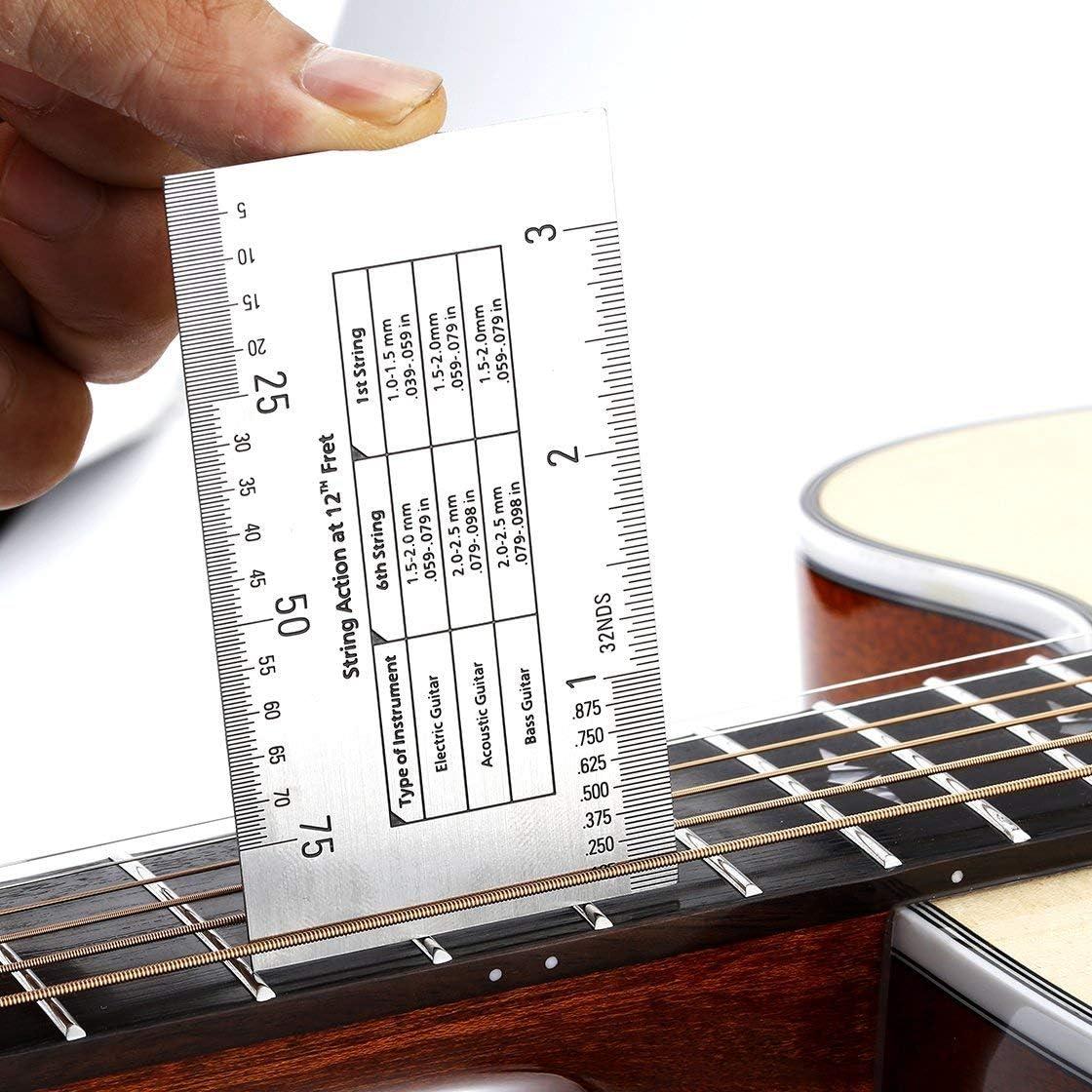 Yooaky Kit de luthier para guitarra- Regla de doble cara, calibre ...