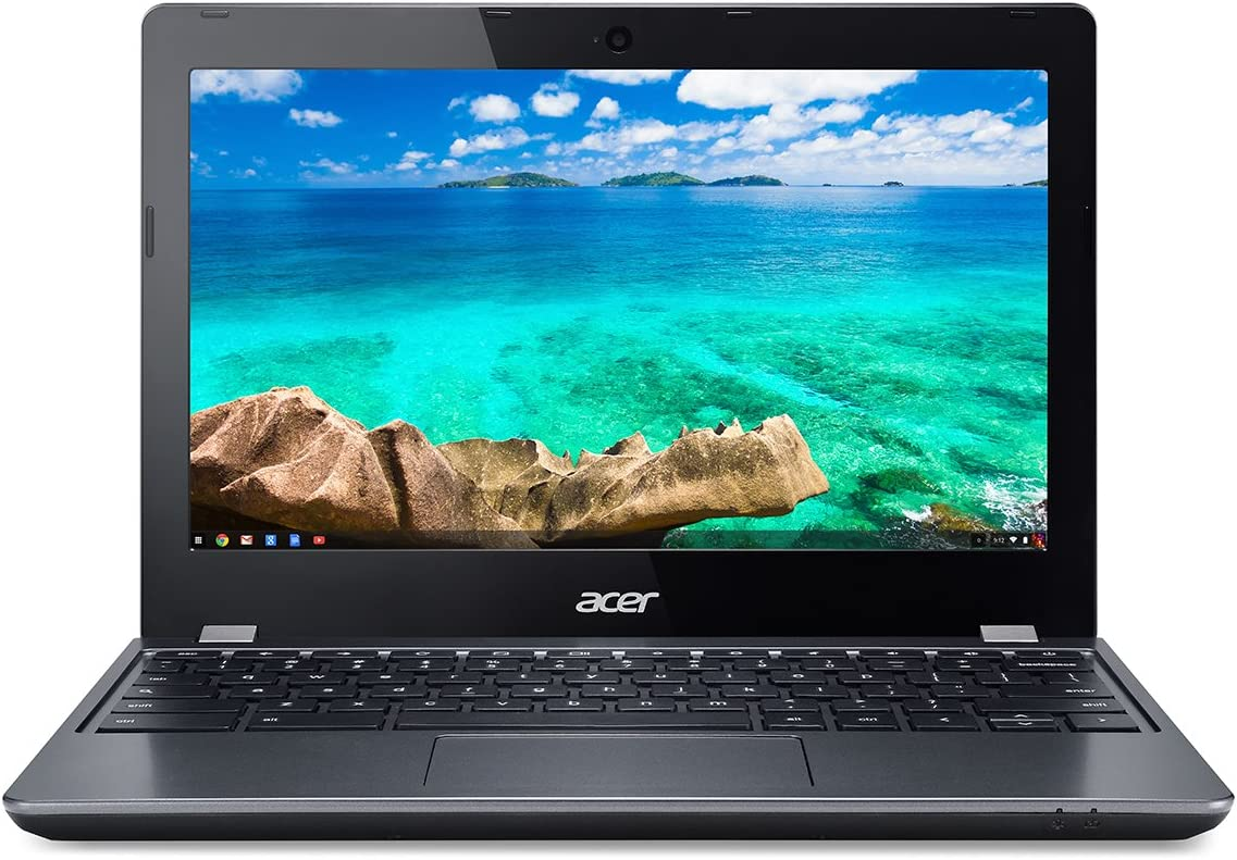 "Acer C740-C3P1 Chromebook (Chrome OS, Intel Celeron 3205U 1.5 GHz, 11.6"" LED-lit Screen, Storage: 16 GB, RAM: 2 GB) Grey"
