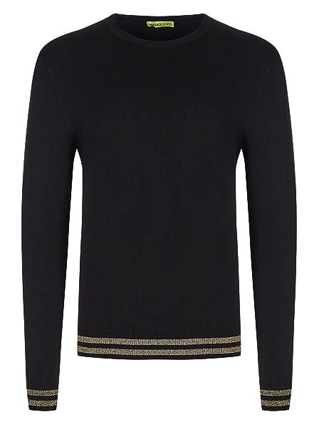 a00bf4c8c9 Versace Jeans Couture - Maglione - Felpa - Uomo Black Large: Amazon ...