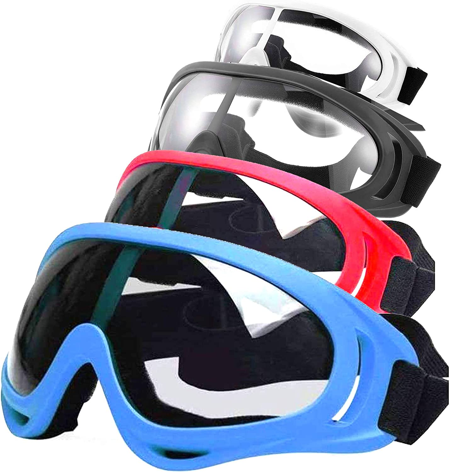 Fstop Labs 4 Packs Safety Goggles Glasses with Wind Resistance and Protection Perfect for Nerf Foam Blasters Guns N-Strike Elite Series