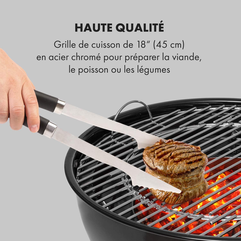 KLARSTEIN Beef Baron Barbecue au Charbon de Bois, Grille