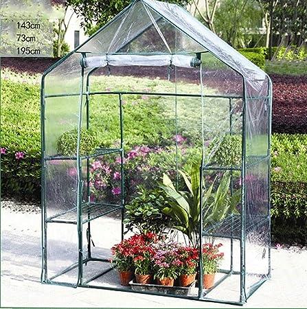 TWS Invernadero Planta Invernadero Plástico Jardín portátil Hogar Invernadero Planta de Flores Patio al Aire Libre Caliente Terraza: Amazon.es: Hogar