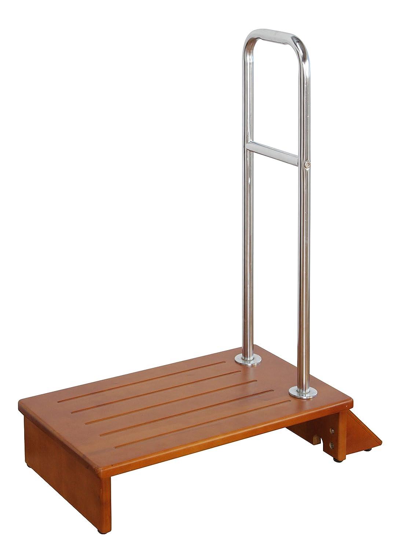 手すり付き踏み台 (70幅) 【上り下り楽々/玄関台ステップ台/横倒れ防止仕様】 B00PBVNFIM70幅