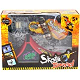 Drasawee Kids Stunt Finger Skateboard Playset Skate Ramp With Accessories Educational Gift 1#