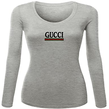 Gucci Womens Printed Long Sleeve T Shirts  Amazon.co.uk  Clothing 5592575f42