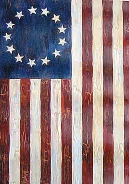 DIYCCY Betsy Ross - Bandera Decorativa de Jardín (Diseño Rústico, 12,5x18)