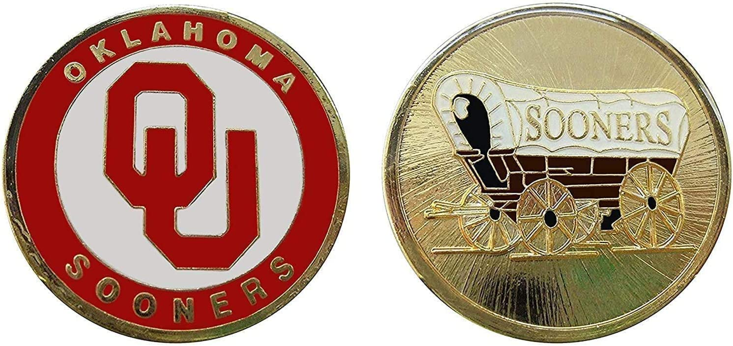 """University of Oklahoma """"Sooners"""" Collectible Challenge Coin - Logo Poker -Lucky Chip"""