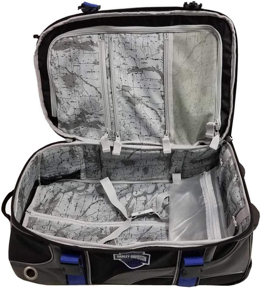 Harley-Davidson 33 Blue /& Black Carry-On Wheeled Luggage 99410-BLUE//BLK 33