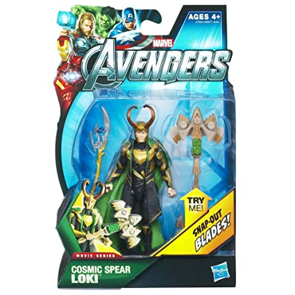 782b28c7cf4877 Amazon.com  Hasbro Marvel Avengers Movie 4 Inch Action Figure Cosmic Spear  Loki  Toys   Games