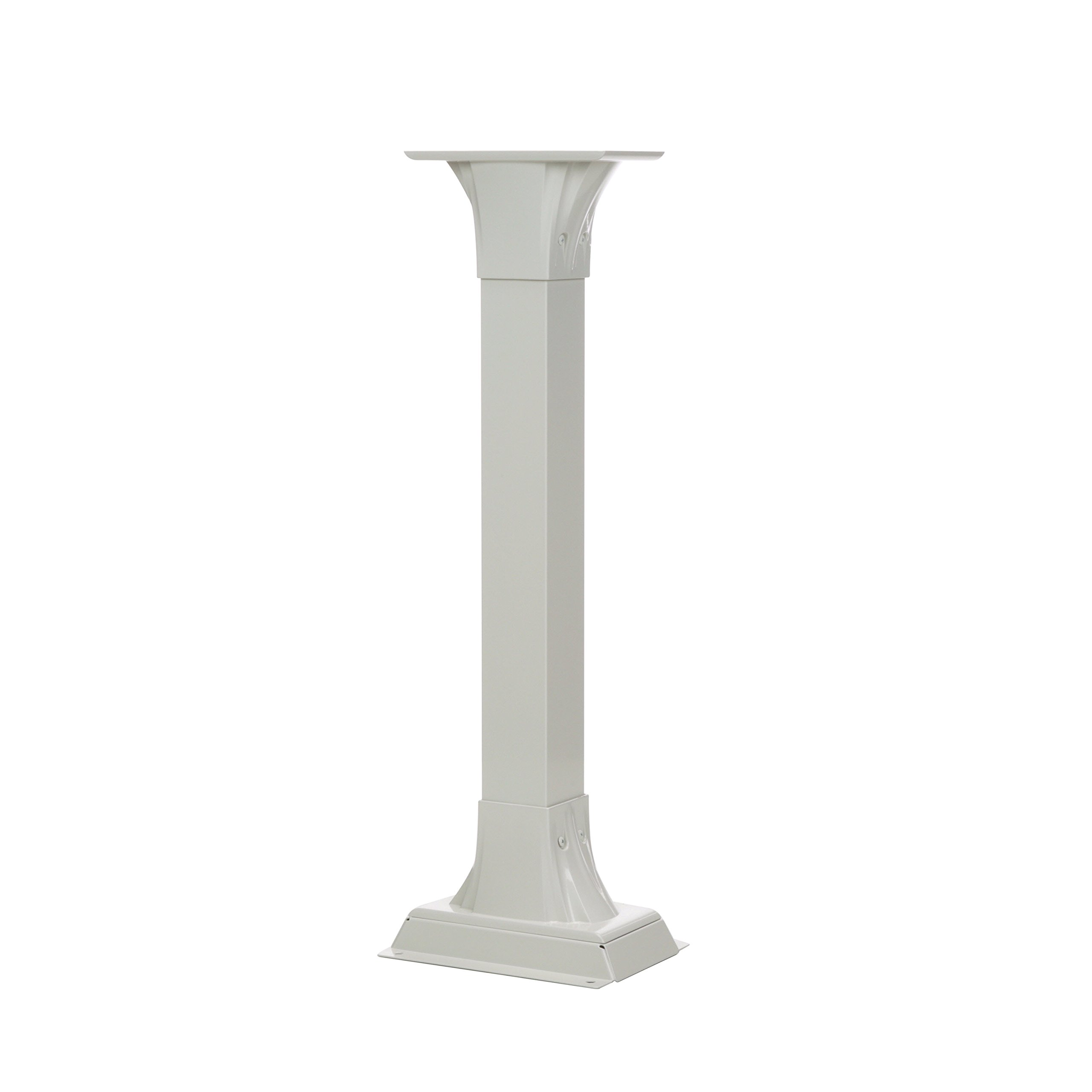 Gibraltar Mailboxes Callaway  Cast Aluminum White, Adjustable Mailbox Post, CP000W00