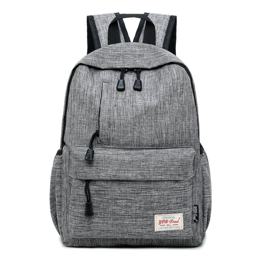 Bozdqun Casual 12 Inch Gray Kids Toddlers Grade School Backpack Daily Book Bag