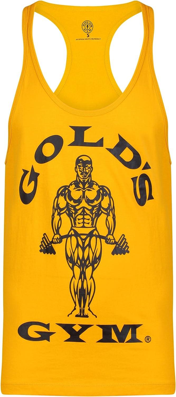 Golds Gym Muscle Joe Contrast Athlete Tank Top Gold Bodybuilding Größe S-XXL