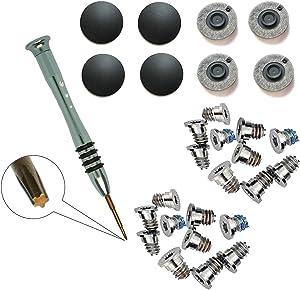GODSHARK 2 Set (20pcs) Repair Replacement Screws Set +8 Pack Rubber Case Feet+ 1pcs 5-Point Pentalobe Screwdriver Compatible with Unibody MacBook Retina for A1425 A1502 A1398 13