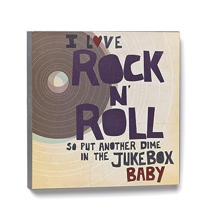 Amazon.com: Lyricology I Love Rock N\' Roll Wall Art: Home & Kitchen