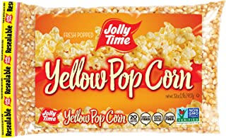 product image for JOLLY TIME Gourmet Unpopped Popcorn Kernels, Non-GMO Yellow Popping Corn, 2 Lb. Bags (Pack Of 12)