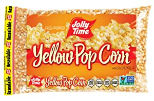 Jolly Time Gourmet Unpopped Popcorn Kernels, Non-GMO Yellow Popping Corn, 2 Lb. Bags (Pack Of 12)