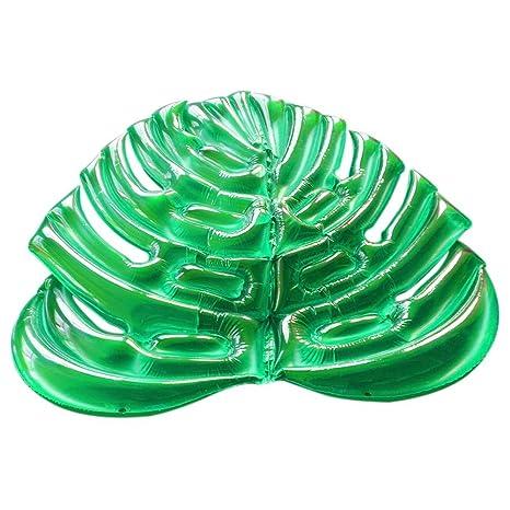 Vanpower - Colchón Hinchable para Piscina, Diseño de Hojas ...