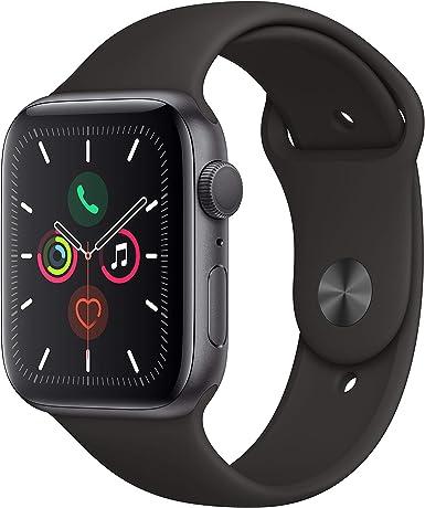 Image ofApple Watch Series 5 (GPS, 44 mm) Aluminio en Gris Espacial - Correa Deportiva Negro