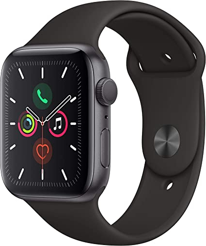Apple Watch Series 5 (GPS, 44mm) Cinzento espaço Alumínio – Bracelete desportiva preta