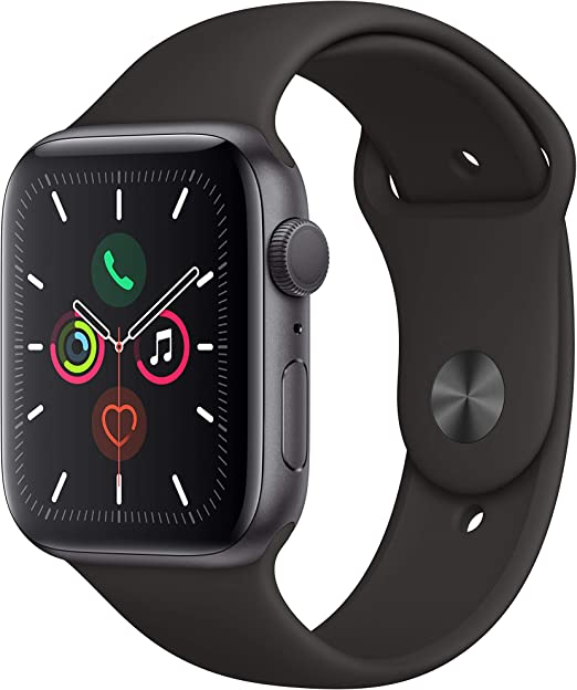 Apple Watch Series 5 (GPS, 44mm) - Space Gray Aluminum Case with ...
