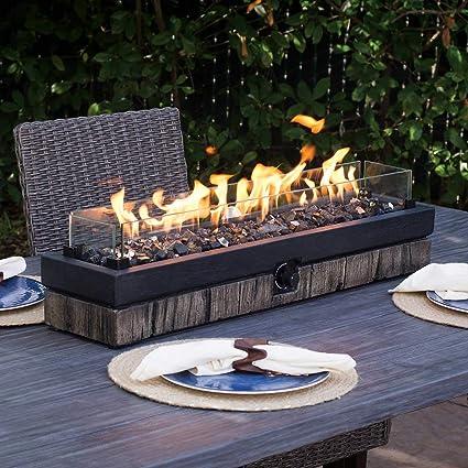 amazon com northwoods decorative table top fire garden outdoor rh amazon com patio table fire bowl table patio fire essentials
