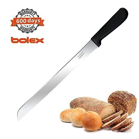 Amazon.com: BOLEX Cuchillo de pan serrado de 10 pulgadas de ...