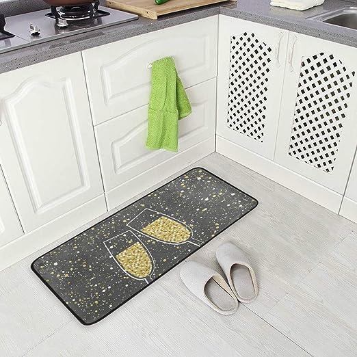 Amazon.com: Happy New Year Anti-Fatigue Memory Foam Kitchen ...
