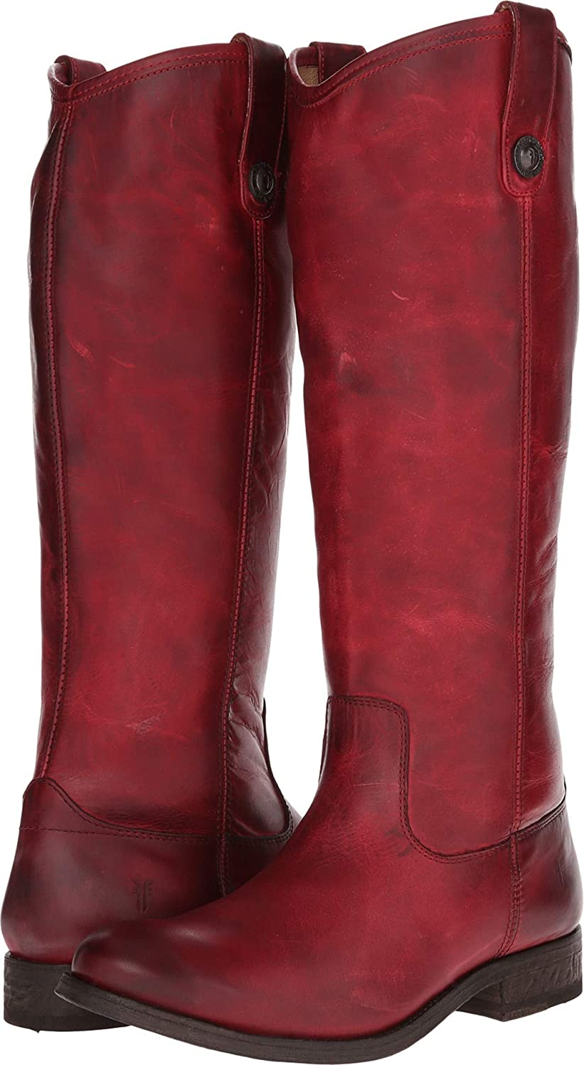 Burgundy Washed Antique Pull Up Frye Women's Melissa Button Boot