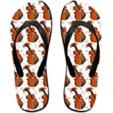 b1084af36 Tailing Flip Flops Violin Pattern Unisex Trendy Print Slippers Beach Sandal