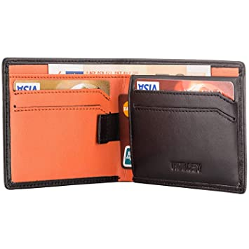 573f23e3adc4 HOEASY RFID Blocking Wallet for Men,Slim Leather Wallet – Made with Napa  Genuine Leather