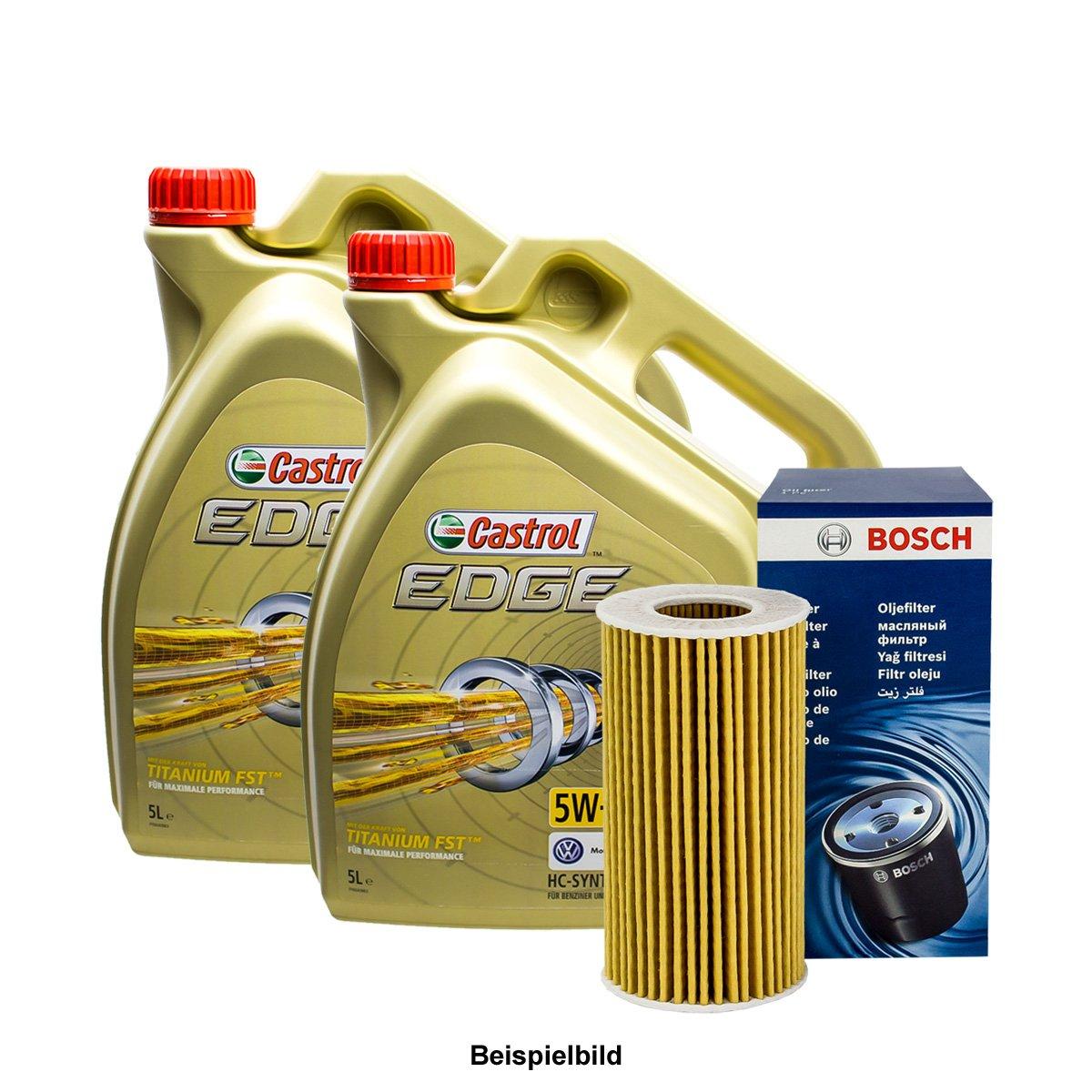 Set 10L de aceite Castrol 5 W de 30 + Bosch de aceite: Amazon.es ...