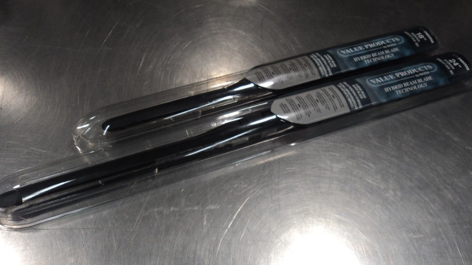 Mazda 3 2014-2015 New OEM Hybrid beam driver & passenger wiper blade set 0000-67-H24-MV, 0000-67-H18-MV