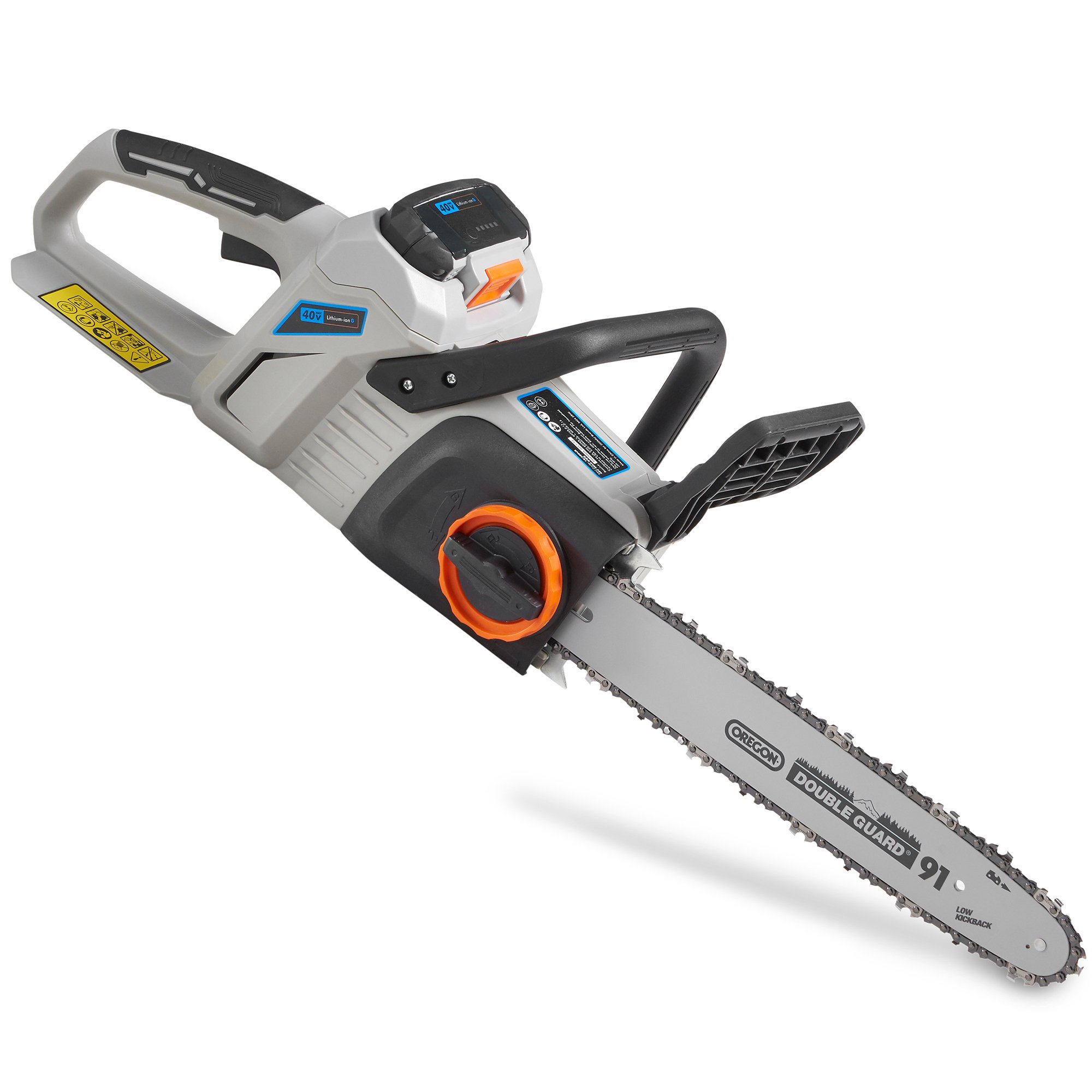 VonHaus 40V Max Cordless Chainsaw - Oregon Chain for Cutting Wood with Battery Included - Kickback Brake Handle - Lightweight Comfort Grip Handle - Part of the 40V Max Lithium-ion G Range by VonHaus