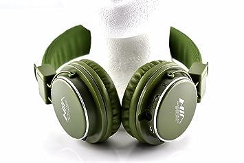 NIA © MRH8809 MP3 reproductor inalámbrico auriculares y tarjeta MicroSD Kaki: Amazon.es: Electrónica