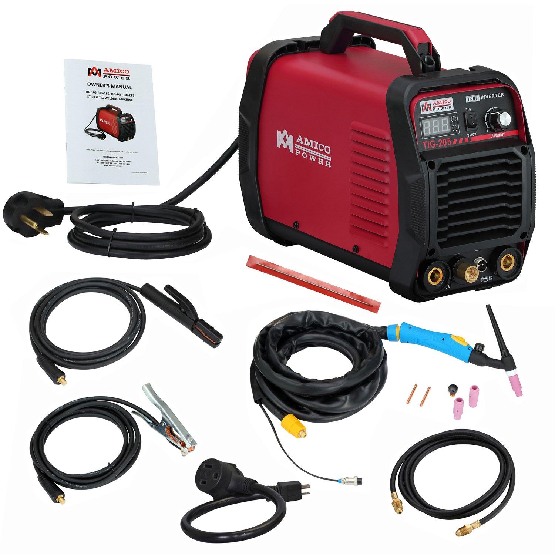 Amico TIG-205 / 200 Amp HF TIG Torch/Stick/Arc Welder 115 & 230V Dual Voltage Welding Machine