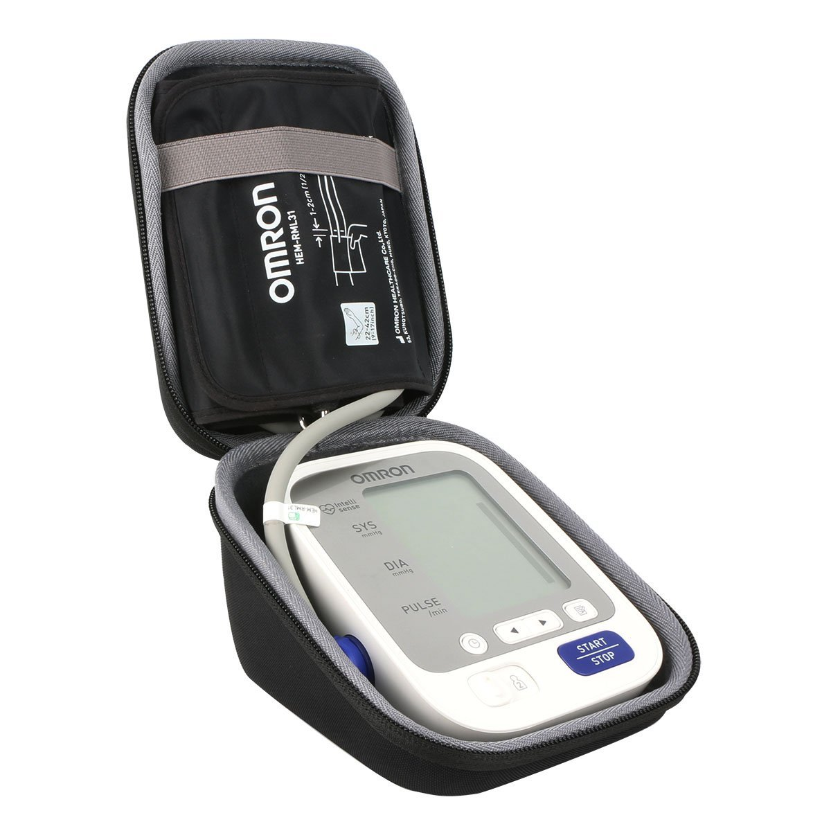 co2crea Hard Travel Case for Omron BP742N 5 Series Upper Arm Blood Pressure Monitor Cuff (Size S) by Co2Crea (Image #6)