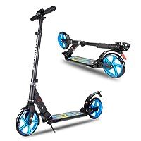Baytter Cityroller Scooter für Erwachsene Kinder ab 8/12 Jahre, aus Aluminiumlegierung und mit Dämpfungssystem ausgestattet, in 3 Höhen verstellbar