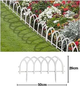 Comercial Candela Valla para Jardín Plástico PVC Ojival para Decoración y Proteger los Bordes del Césped, Patio o Jardineras en Tierra 5 Unidades: Amazon.es: Jardín