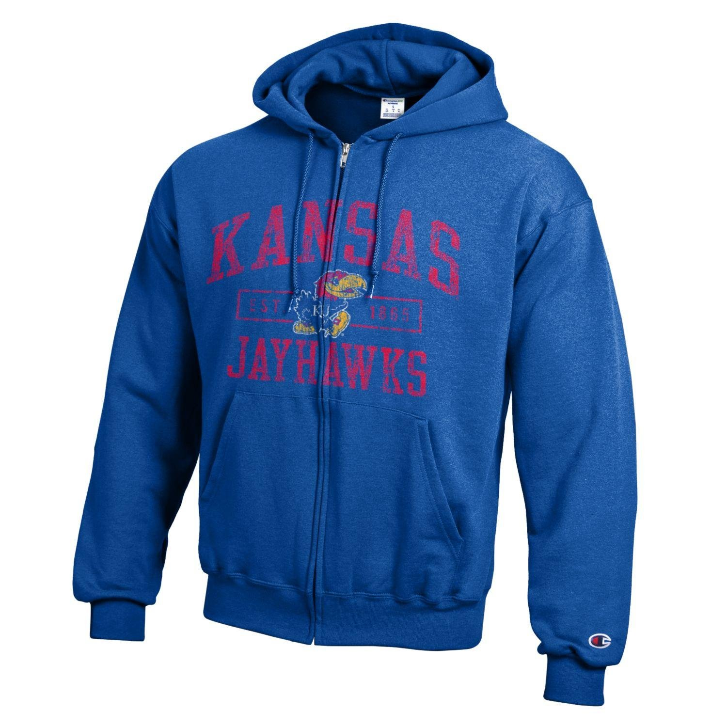 dd2a47d208e6 Amazon.com   Champion NCAA Men s Full Coverage Full Zip Hoodie   Sports    Outdoors