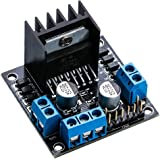 Elegoo L298N Dual H Bridge Stepper DC Motor Driver Shield Expansion Development Board for Arduino DIY Smart Car Robot Mega UNO