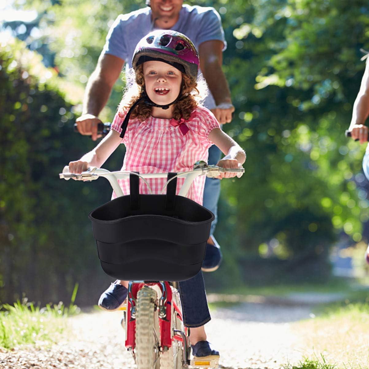 CLISPEED Enfants Scooter Panier V/élo avant Guidon Panier V/élo Panier Suspendu Sac de V/élo Porte-Bagages pour Enfants Tout-Petits Enfants V/élo Rose