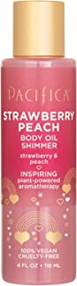 product image for Pacifica Strawberry peach body oil shimmer, 4 Fl Oz