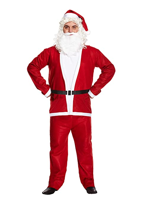 Papá Noel Papá Noel Completo Adulto Disfraz Regalo De Navidad
