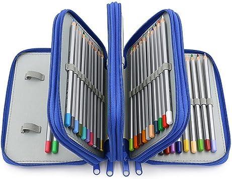 Estuche 4 Compartimentos Niño Multifuncional Organizador de Papelería Caja Plumas y Boligrafos Liso Estuche Gran Capacidad Niñas 72 Ranuras Pencil Case Pouch Bolso Brochas Maquillaje Bolsa Almacenaje: Amazon.es: Oficina y papelería