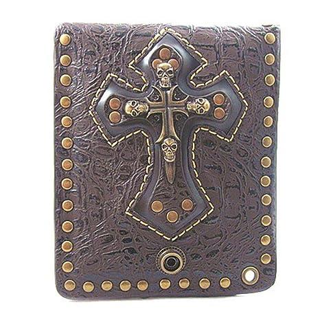 Jxth Bolsa de diseño Compacto para Hombres PU Metal Remaches ...