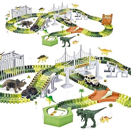 Amazon.com: Finger Rock Dinosaur Juguetes Tren Tracks Set ...